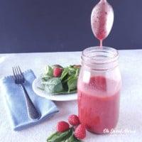 Raspberry Basil Vinaigrette Dressing | THM S, Keto, Sugar Free
