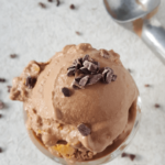 Dairy Free Chocolate Ice Cream + Peanut Butter Fudge Swirl | THM S, Low Carb, Keto