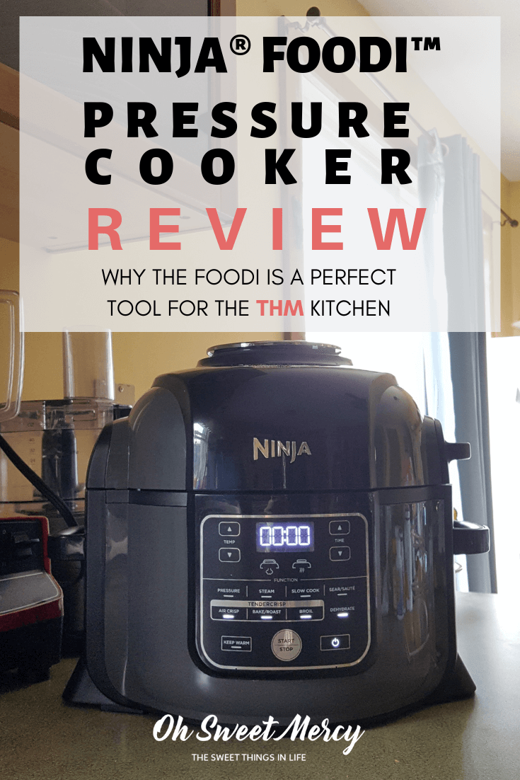 Why the Ninja Foodi Pressure Cooker Is Perfect For the THM Kitchen. Read my review of the Ninja Foodi and you'll see why it's a THM's best friend. #ninja #foodi #airfryer #pressurecooker #productreview
