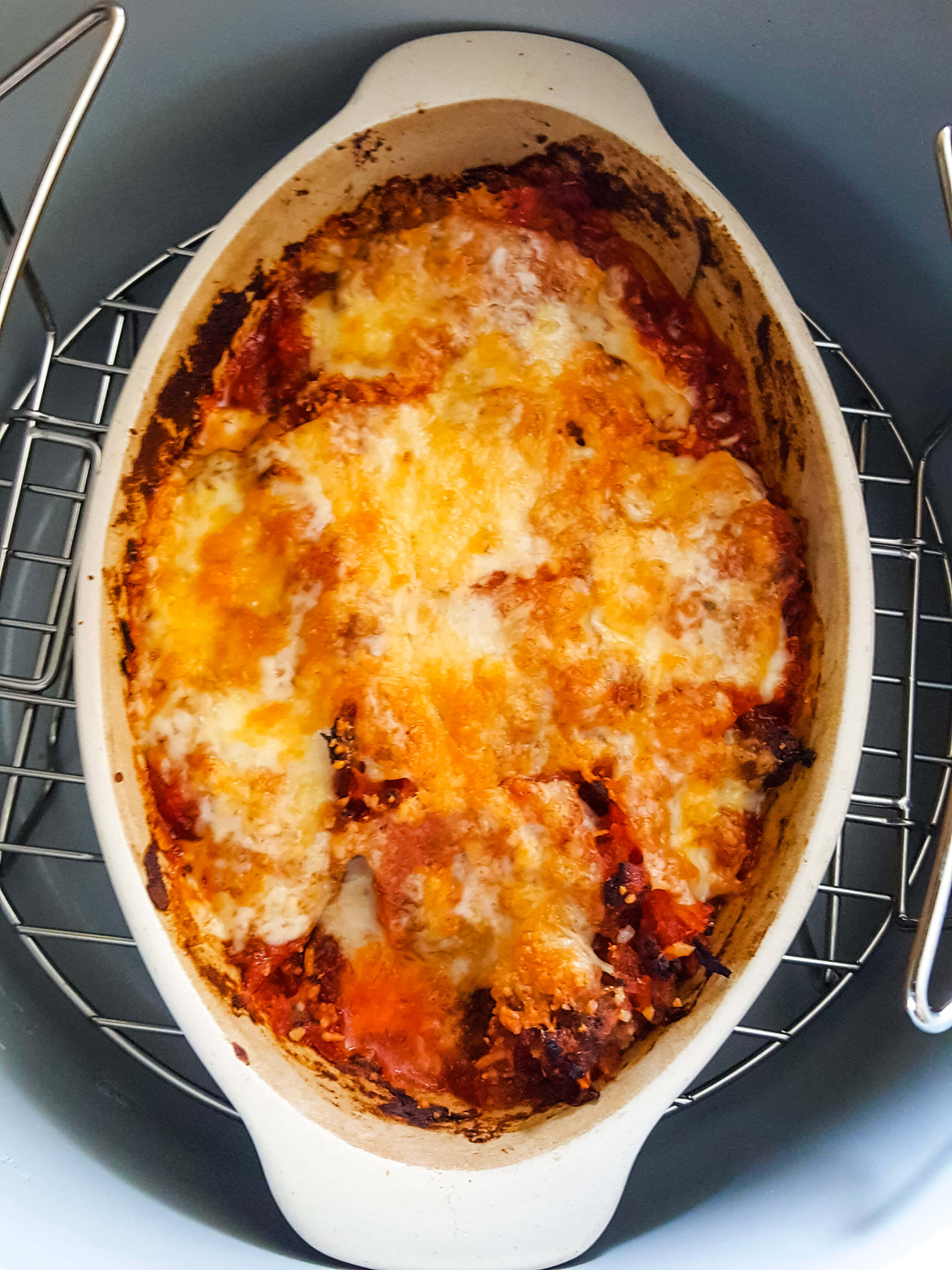 Single Serve Low Carb Lasagna in the Ninaj Foodi Pressure Cooker
