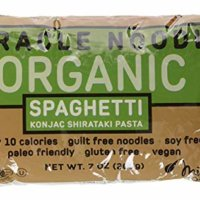 Miracle Noodle Organic Shiritaki Konjac Spaghetti Pasta, 7 oz (Pack of 6), Low Carbs, Low Calorie, Gluten Free, Soy Free, Keto Friendly