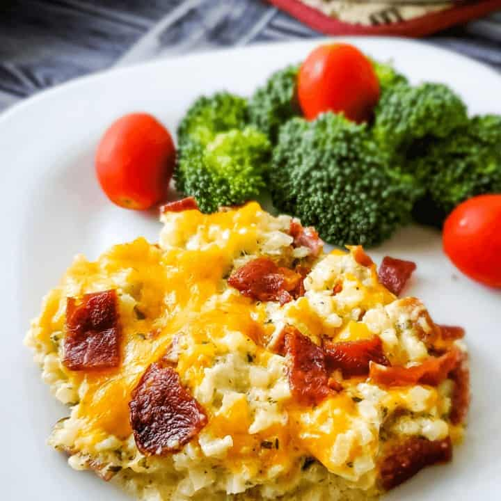 Cheesy Chicken and Bacon Casserole | THM S, Low Carb, Keto