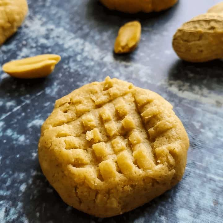 Easy No Bake Peanut Butter Cookies | THM S, Low Carb, Sugar Free