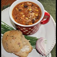 Southwestern Chicken and Bean Soup THM-E