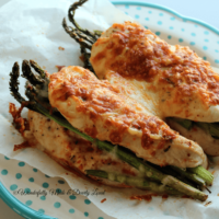 Cheesy Chicken & Asparagus Bundles {THM S, Low Carb}