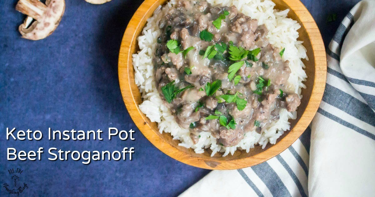 Keto Instant Pot Beef Stroganoff (Whole30, dairy-free, nut-free)