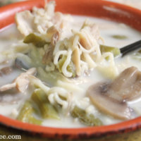 Creamy Chicken Noodle Soup || Low Carb & THM - My Table of Three
