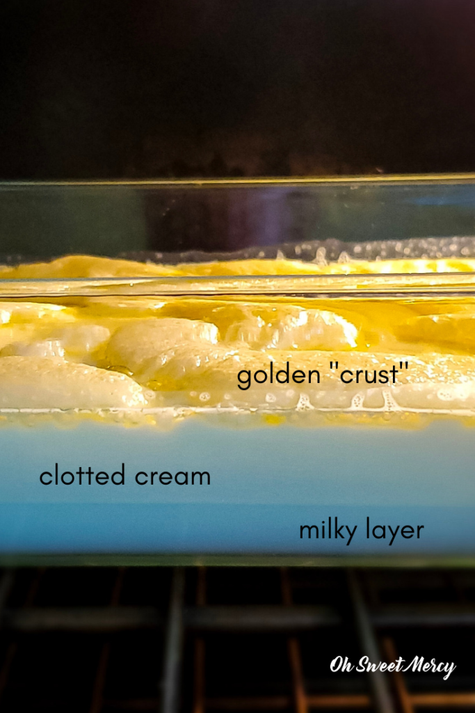 Layers of the clotted cream