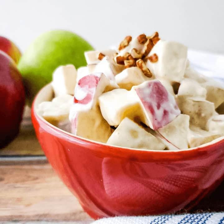 Creamy Autumn Apple Salad | THM E, Sugar Free