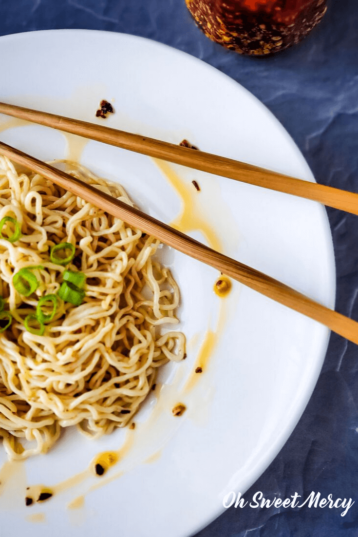 Low carb noodles with chili garlic oil
