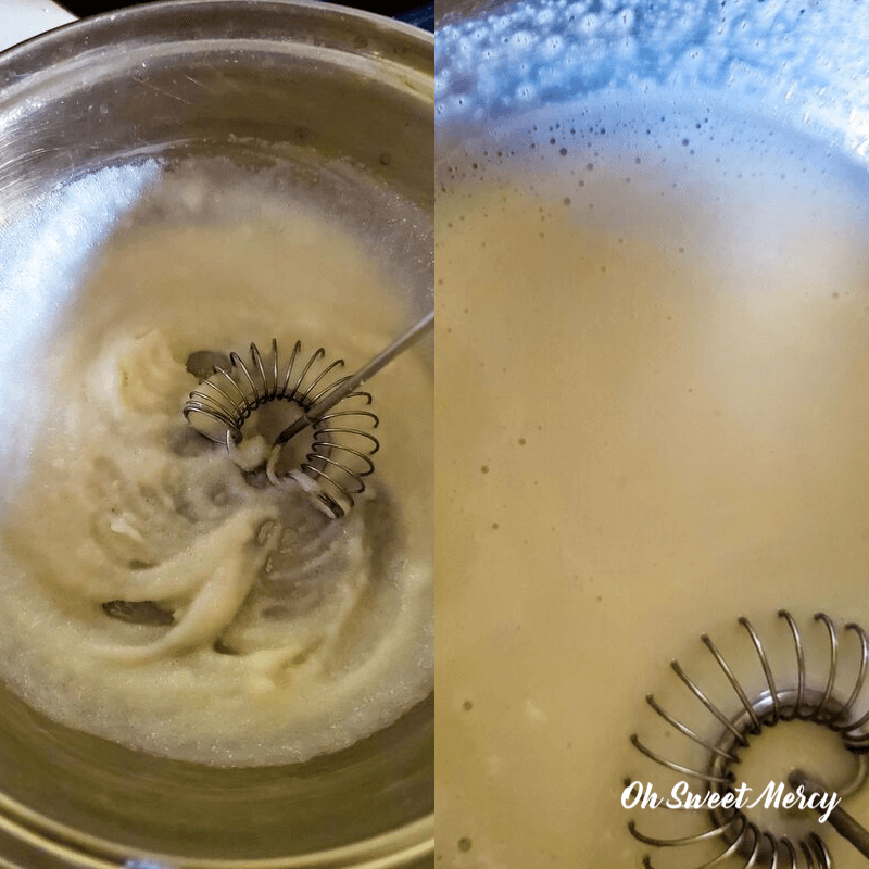 dissolving bloomed gelatin over heat