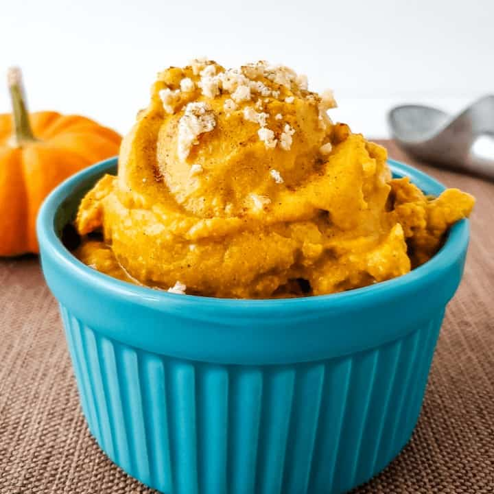Pumpkin Pie Ice Cream | THM S, Dairy Free, Low Carb