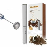 LinsnField Cordless Milk Frother Handheld, 19,000 rpm Portable Drink Foam Maker
