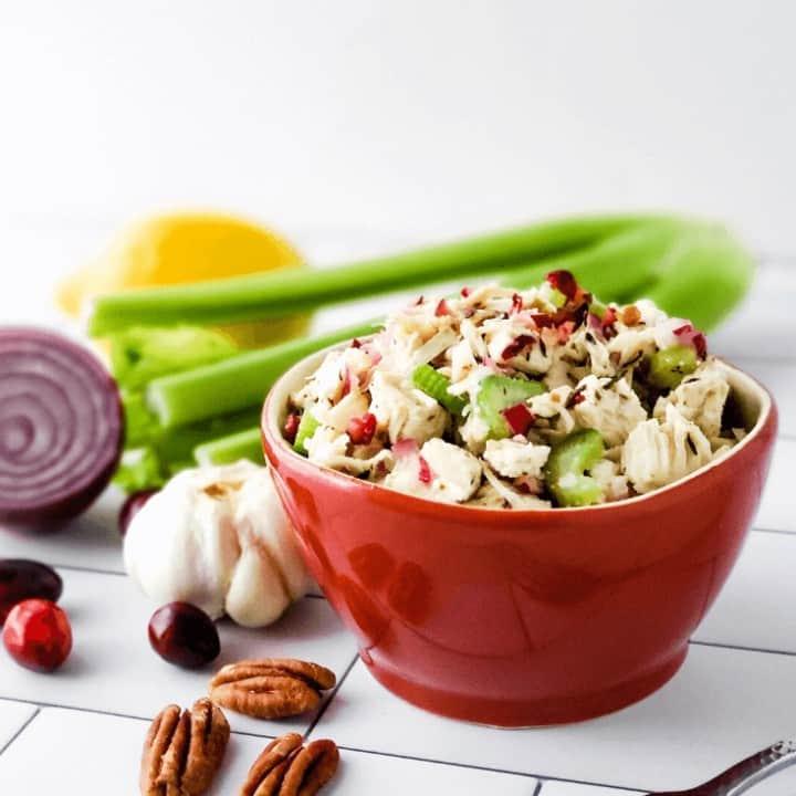 No Mayo Turkey Salad | Low Carb, THM S with Deep S Option