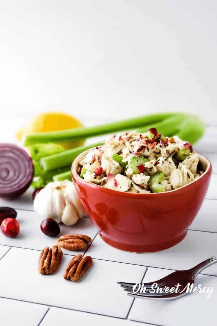 Bowl of turkey salad