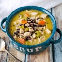 Creamy Turkey And Rice Soup |Low Fat, Healthy Carbs, Dairy Free