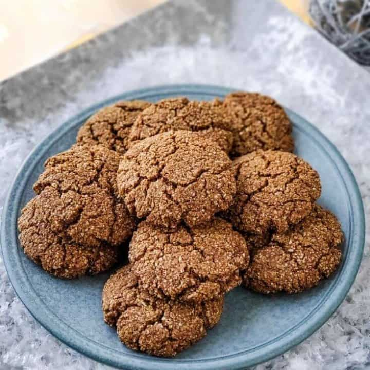 Ginger Molasses Cookies | Low Carb, Sugar Free, THM S, Keto