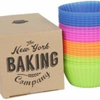 NY Baking Co. - Silicone Baking Cups - Reusable Cupcake Liners - Stand Alone Pan-Free and Non-Stick - Muffin Liners 24 Count