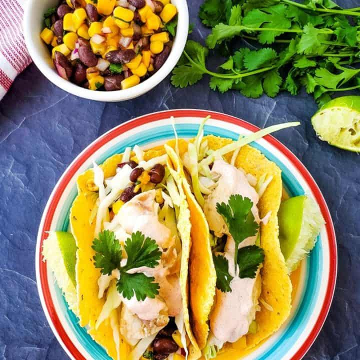 Easy Fish Tacos | THM E with S and FP Options.