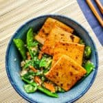 Garlic, Ginger, Lime Marinated Tofu and Quinoa | Low Fat, THM E