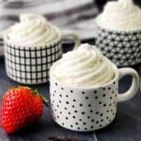 Low Carb Vanilla Bean Mousse | Sugar Free, THM S