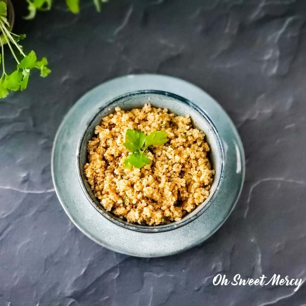 BOWL OF EASY HERBED QUINOA