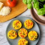 Easy Caprese Egg Cups | Low Carb, THM S