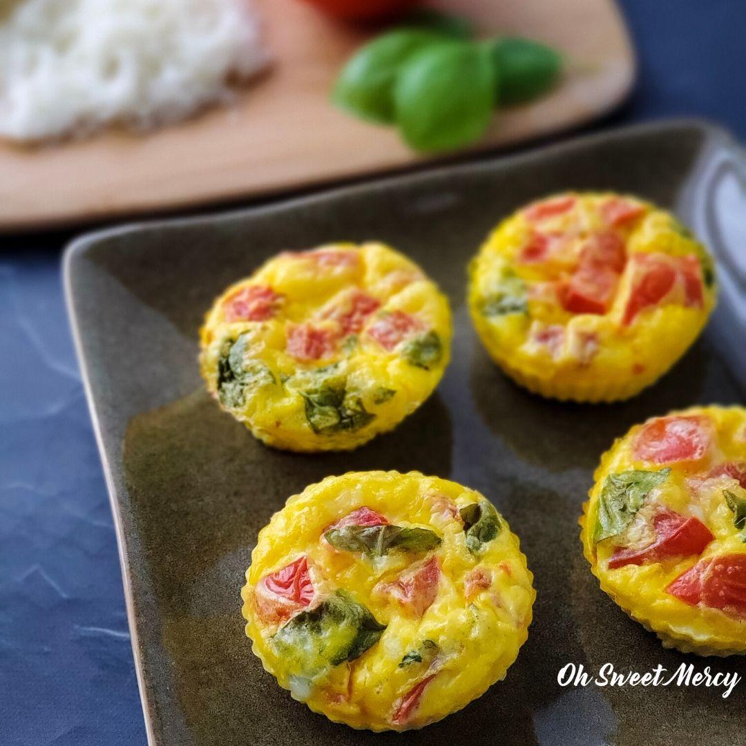 Easy Caprese Egg Muffins