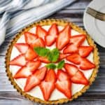 Strawberry Mascarpone Tart | Low Carb, THM S