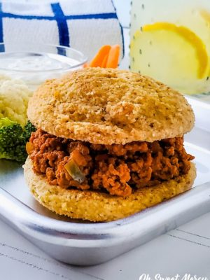 Close up of low carb sloppy joe