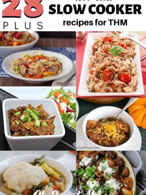 28 plus low carb slow cooker recipes for THM