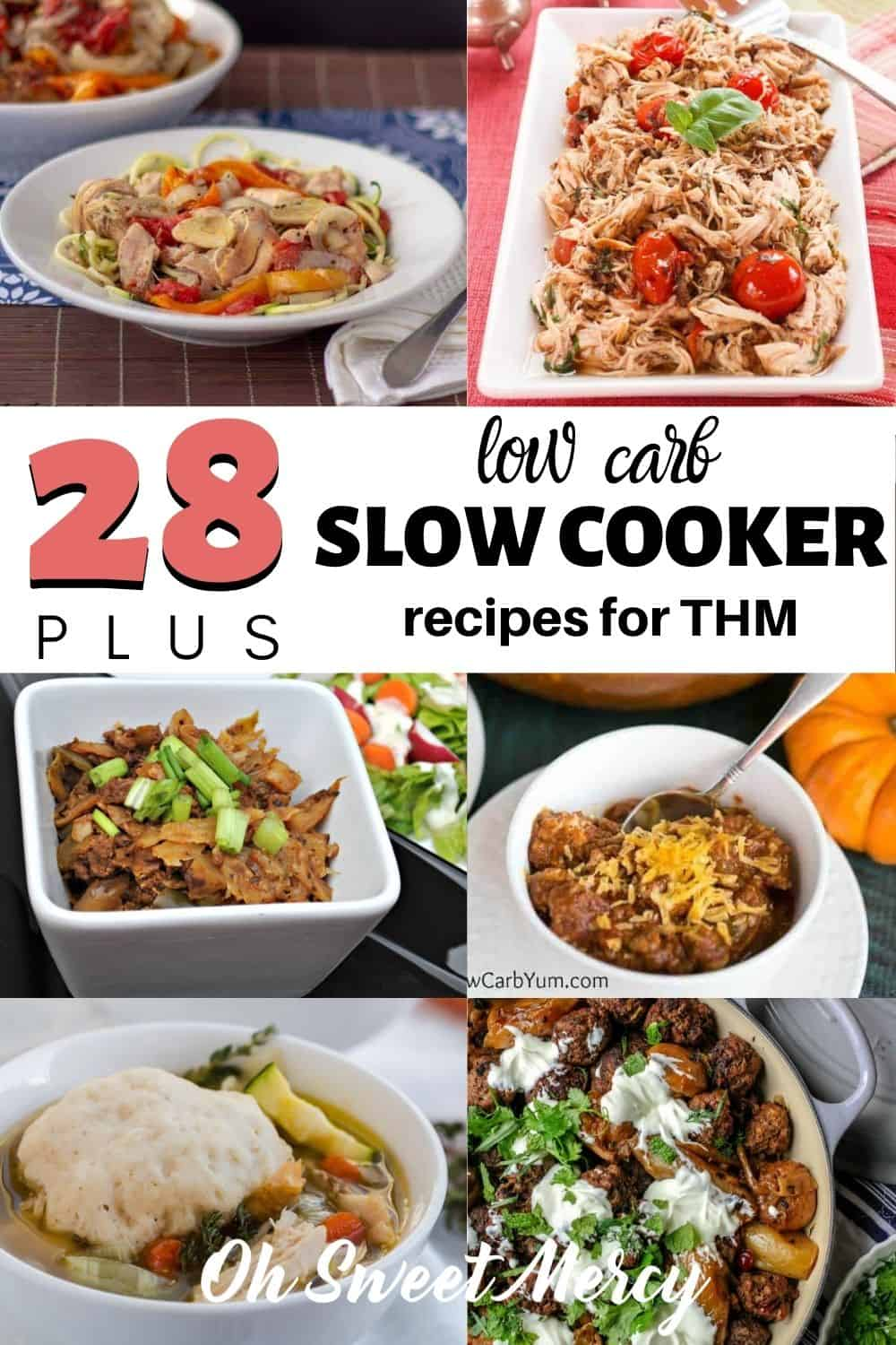 Grab your meal planning supplies and get these easy low carb slow cooker recipes on your menu for the month. Perfect for THM S meals, saving time, and even saving money. #lowcarb #slowcooker #crockpot #healthy #mealplanning #timesaver #thm @ohsweetmercy