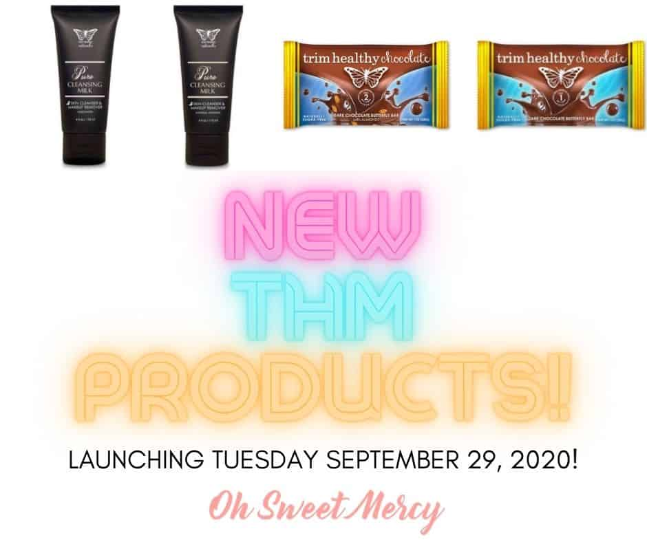New THM products launching 9-29-20: Pure Cleansing Milk, unscented or Natural Orange, THM Dark Chocolate bars, plain or almond