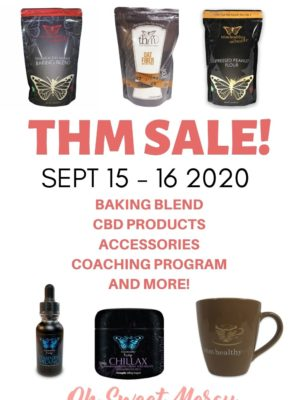 THM sale notice with product photos: 48 hour sale starts September 15 2020