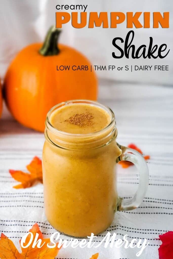 Pinterest Pin Image for Creamy Low Carb Pumpkin Shake recipe