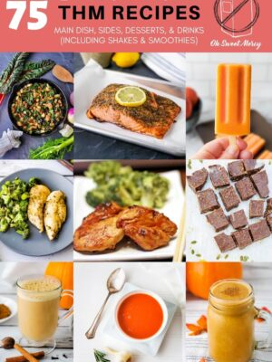 Collage of dairy free recipes for THM