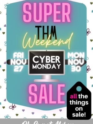 Graphic showing Super THM Cyber Monday Sale dates Nov 27 through Nov 30 2020