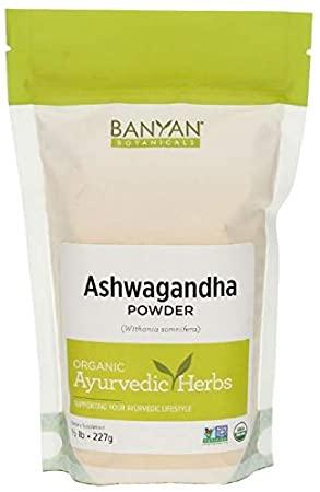 Banyan Botanicals Organic Ashwagandha Powder, 8 oz.