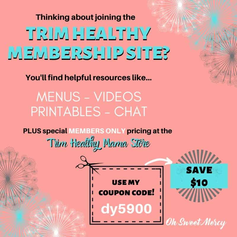 USE COUPON CODE DY5900 TO SAVE $10 ON A SUBSCRIPTION TO TRIMHEALTHYMEMBERSHIP.COM