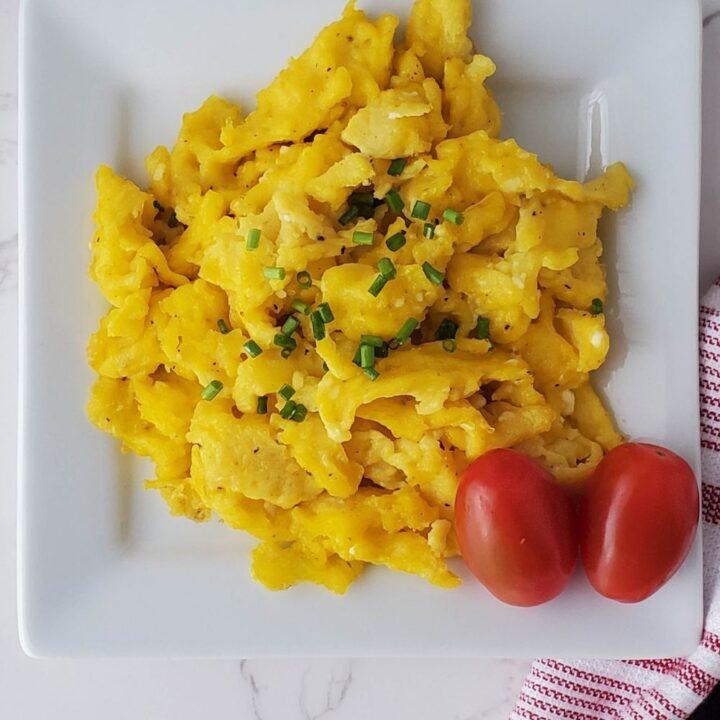 Decadent Scrambled Eggs   THM S, Low Carb