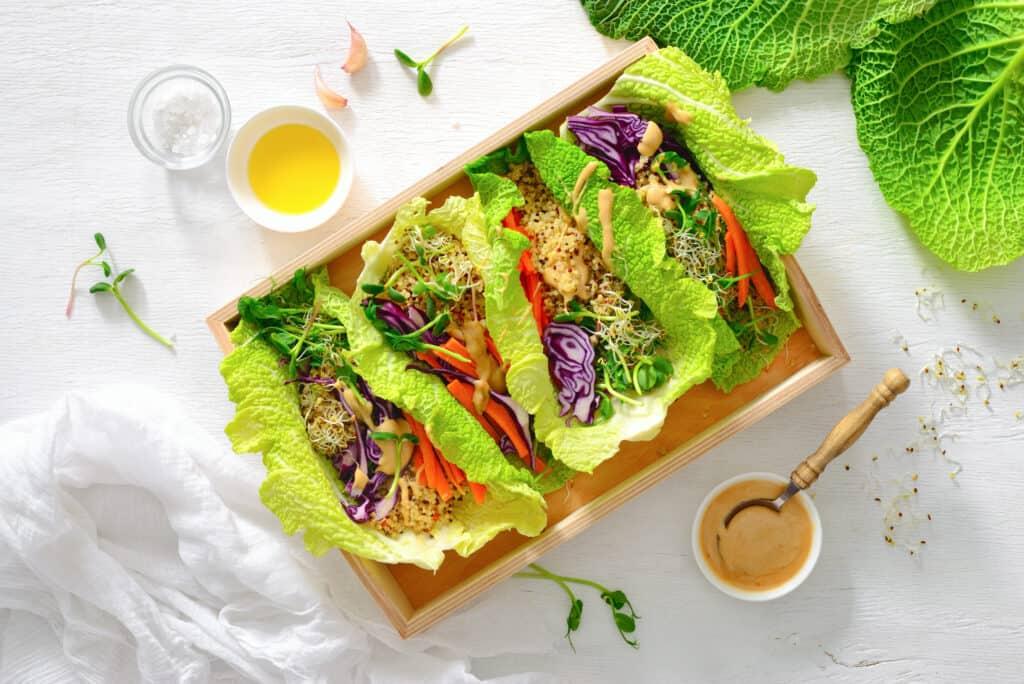 food sensitivity friendly vegan spring rolls