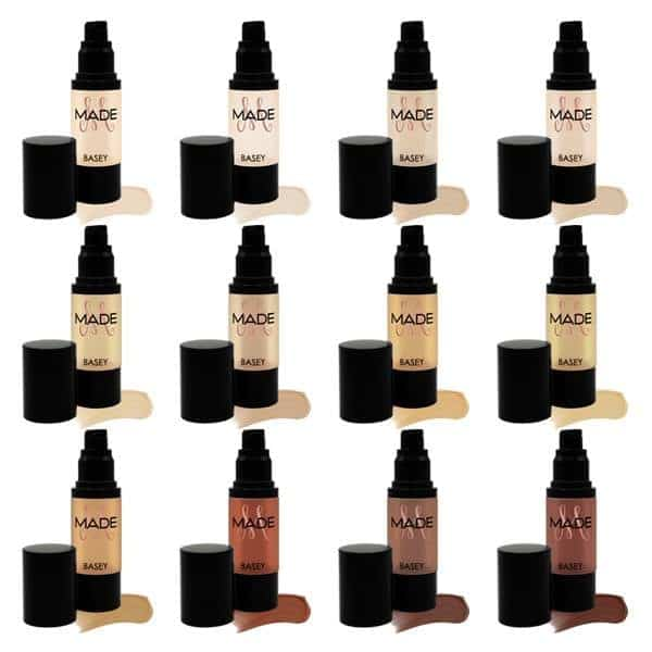 MADE foundation in various shades